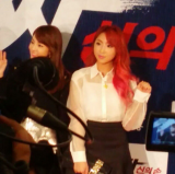 [FANCAMS] 140825 Minzy & Dara at Tazza 2 VIP Movie Premiere