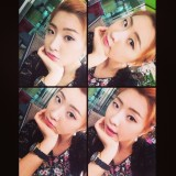 """[INSTAGRAM] 141001 Minzy shares pretty and cute selcas along with adorable line for """"#blackjack"""""""
