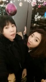 [TWITTER] 141124 Minyoung tweets a photo of her and Minzy together