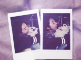 "[INSTAGRAM] 150316 HI-TECH's Kim Heeyun shares a photo of Minzy with her pet dog ""Bin"""